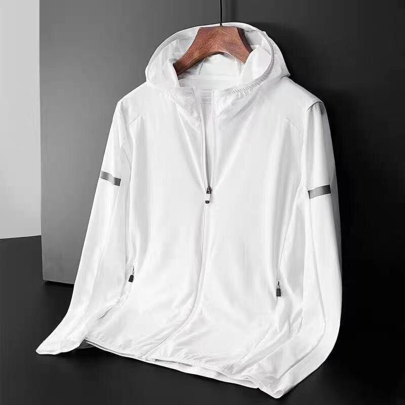 Мужские спортивные куртки, мужская повседневная спортивная Солнцезащитная одежда для бега, фитнеса, новая мужская спортивная одежда для ве...
