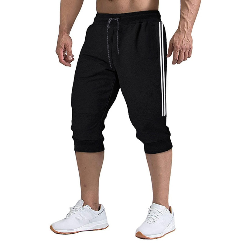 2020 New Men Jogger Casual Slim Harem Shorts Soft 3/4 Trousers Fashion New Brand Men Sweatpants Summer Comfy Male Shorts XXXL