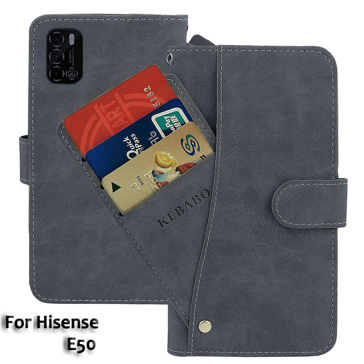 Vintage Leather Wallet Hisense E50 Case 6.55