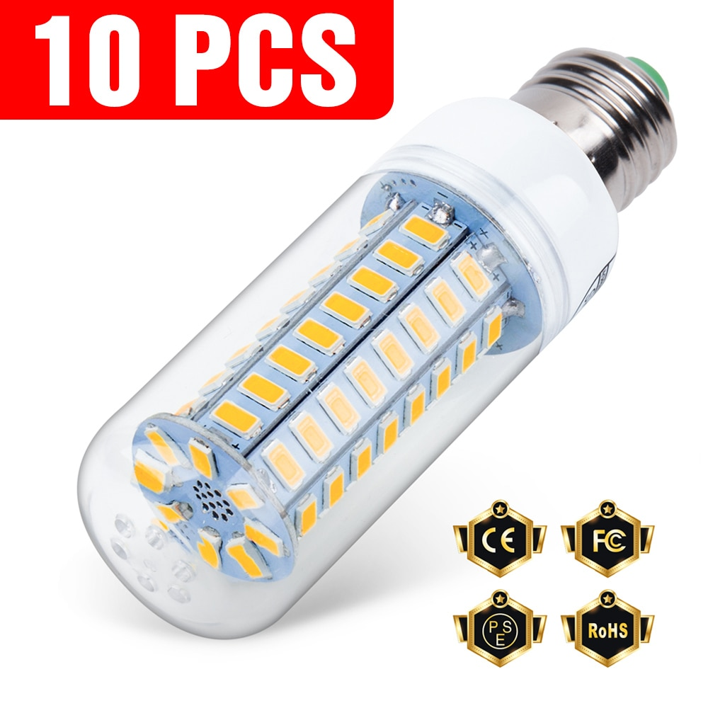 10PCS E27 Led Lamp 220V E14 Corn Lamp 3W 5W 7W 9W 12W 15W GU10 Lampada Led Bulb G9 Led Lamp Light B2
