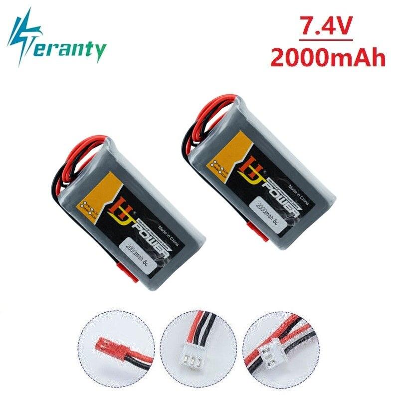 Original Rc Lipo Battery 2S 7.4V 2000MAH Lipo Battery for Jumper T16 Open Source Multi-protocol Radio Transmitter 7.4v battery