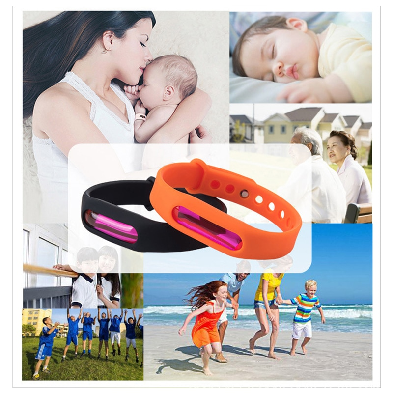 Environmental Mosquito Repellent Silicone Bracelet Anti Insect Wrist Band Bug Pest Insect Drive Wristband Anti Mosquito Killer