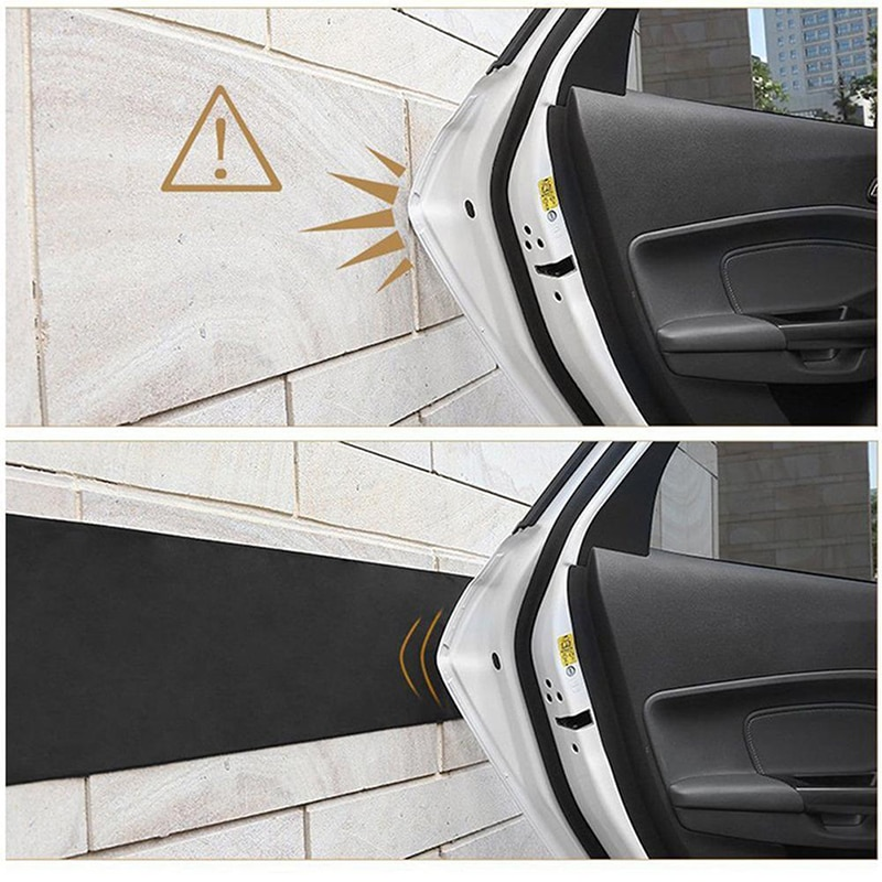 Seguridad protector de puerta de coche parachoques guardia garaje cubierta moldeo tira para pared