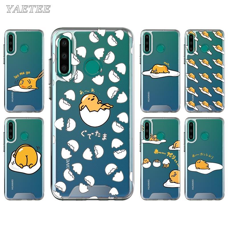 De dibujos animados Gudetama huevo perezoso teléfono funda para Huawei Honor 9A 9S 9C 9X 8A primer 8X 10 10i 20 Lite 20S 30 Pro + cubierta de silicona