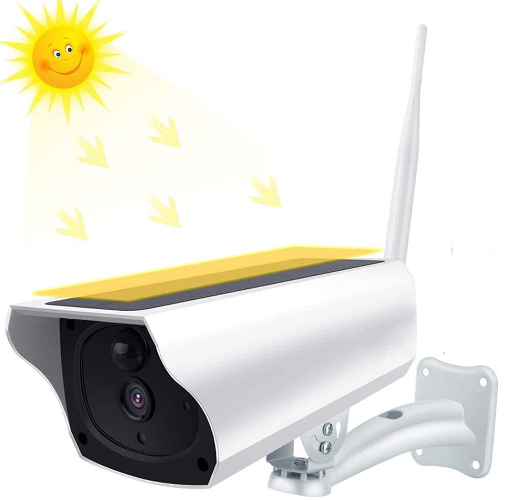 Cámara Solar 1080P WiFi cámara de seguridad inalámbrica con batería de alimentación IP Cámara al aire libre impermeable Audio bidireccional PIR detección de movimiento