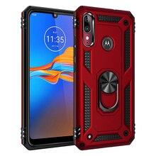 Funda protectora para teléfono para MOTO G6 G7 E6 P40 Z4 E5 One Zoom Play Pro Plus Power Play soporte para anillo a prueba de golpes contraportada
