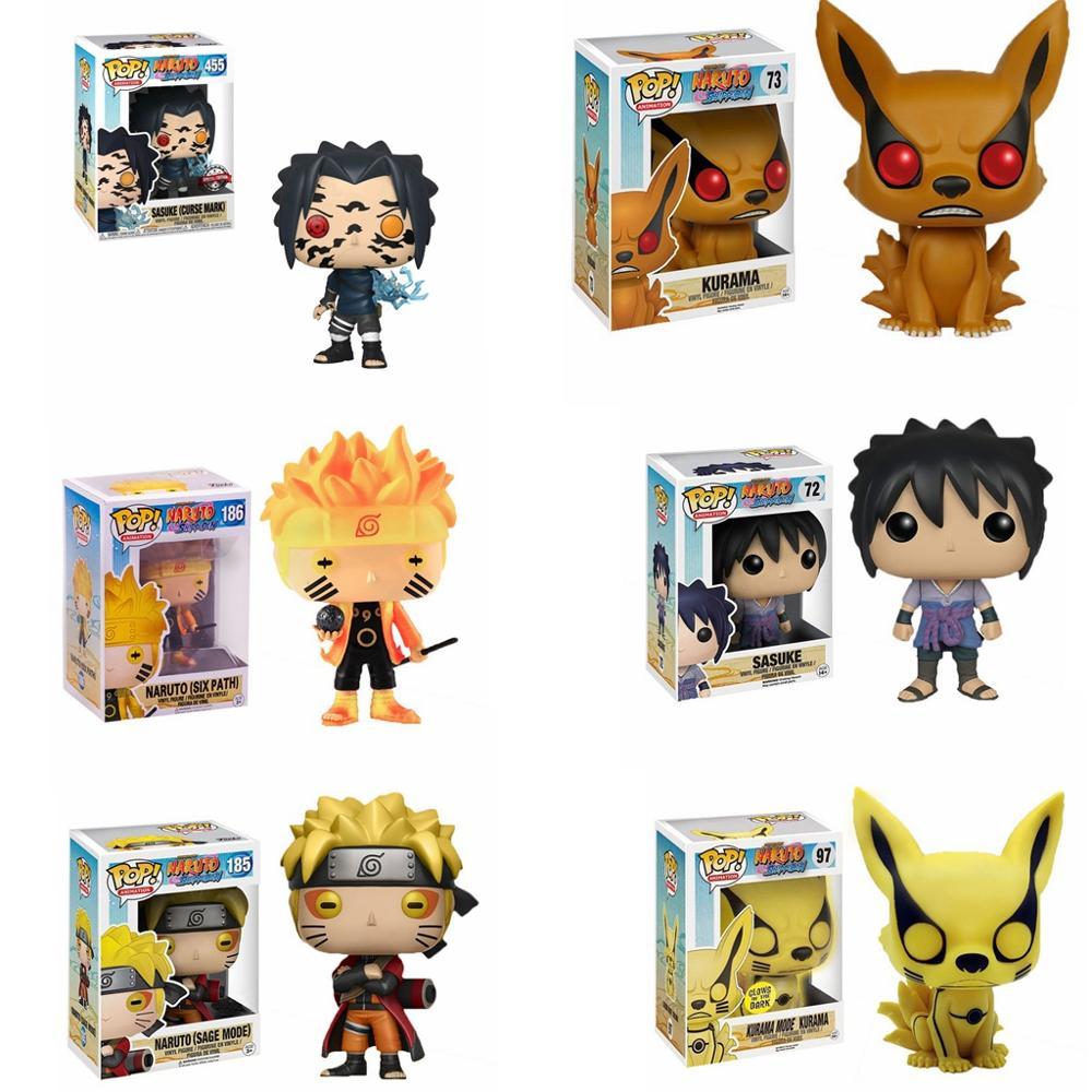 Funko Pop NARUTO Uzumaki Naruto Uchiha Sasuke kyuubi Holz blatt Land von Feuer Sammlung Modell PVC Action-figur Kinder Spielzeug