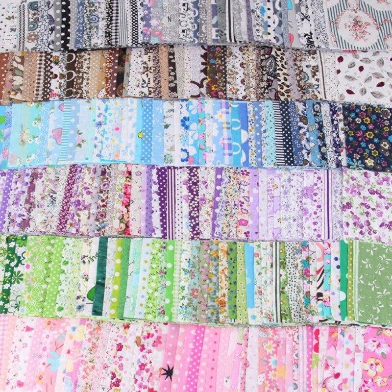 50 Uds Pastoral flor hilo teñido hecho a mano Patchwork ropa tejido para coser Patchwork tela costura