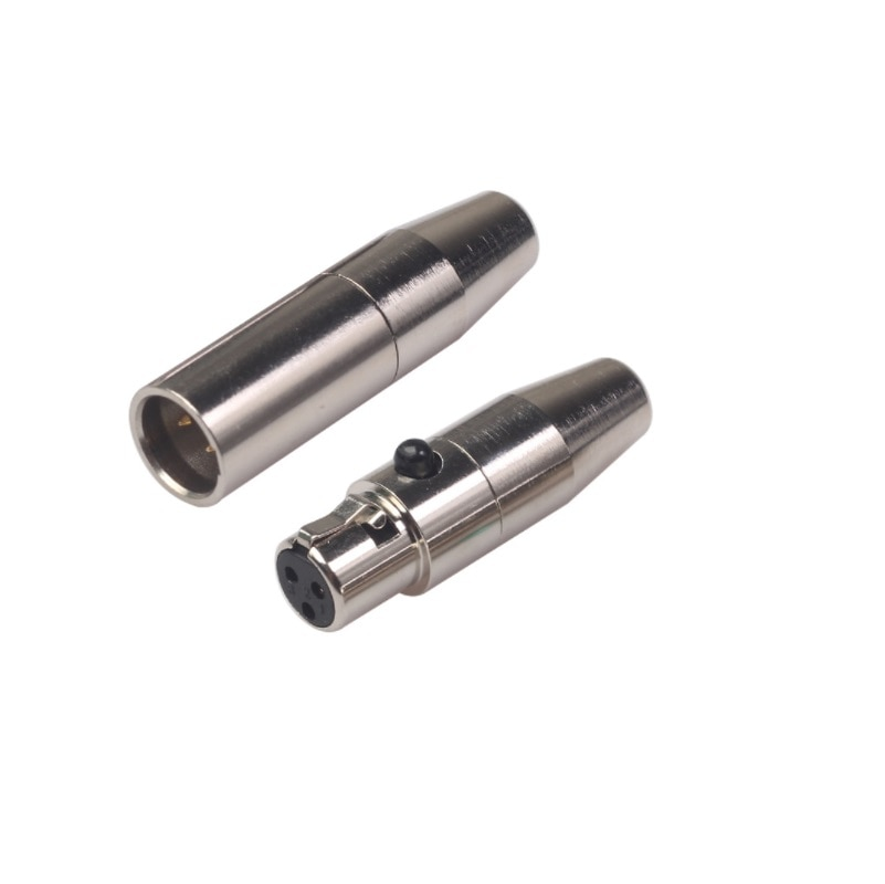 10 قطعة/الوحدة عالية الجودة البسيطة XLR 3Pin الذكور الإناث المكونات الصغيرة XLR الصوت ميكروفون صغير موصل