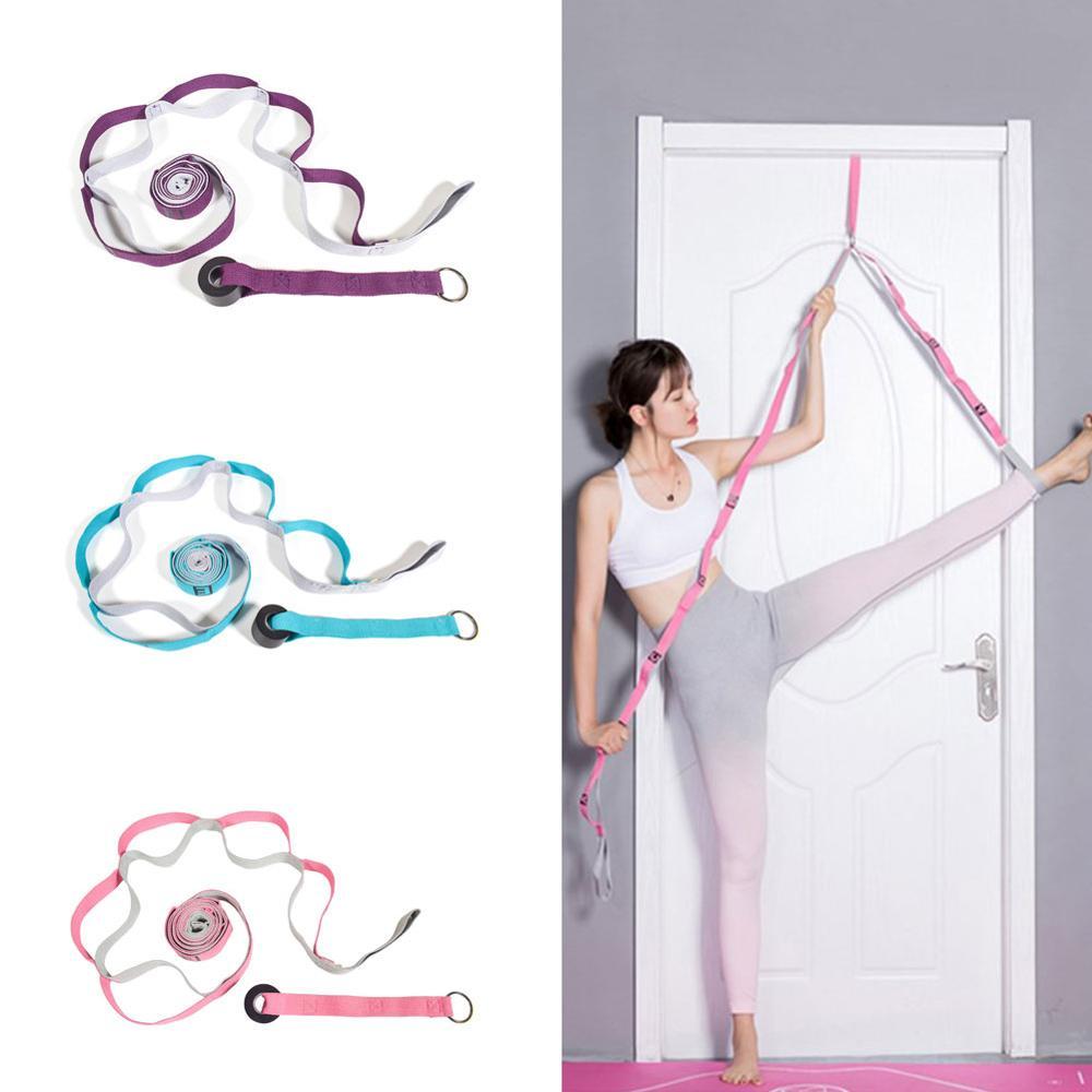 2.4m yoga elástico banda yoga corda cinta de volta iyengar auxiliar estiramento banda ombro jubarte ombro aberto yoga cinta