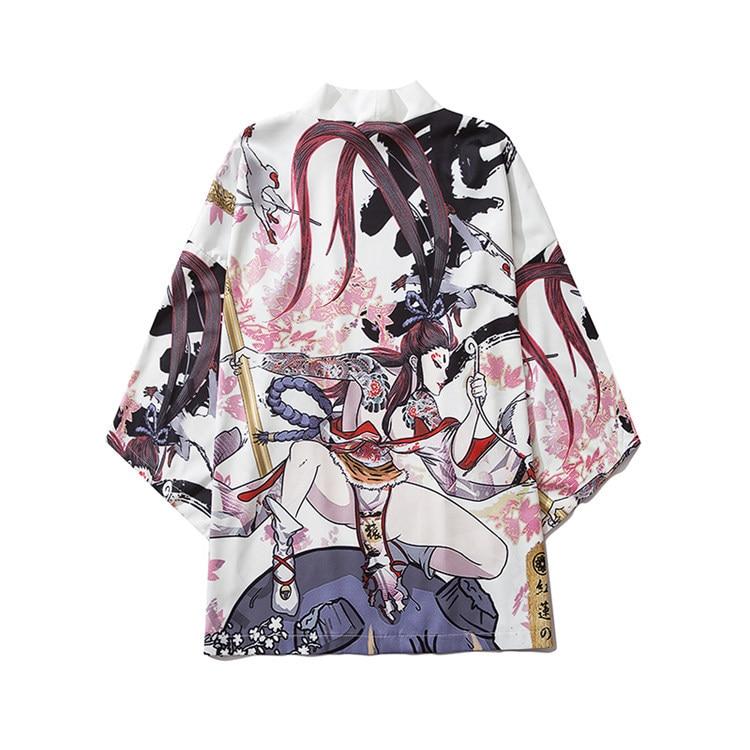 Chaqueta Harajuku para hombre, Kimonos japoneses para mujer, traje de camisa holgado con estampado de verano, abrigo tradicional Samurai japonés, pareja Yukata