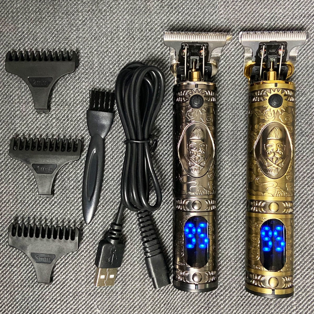 الشعر المتقلب مقص الشعر الحلاق اللاسلكي آلة قطع الشعر أداة تهذيب اللحية ماكينة حلاقة لاسلكية الحلاقة الكهربائية الرجال ماكينة حلاقة