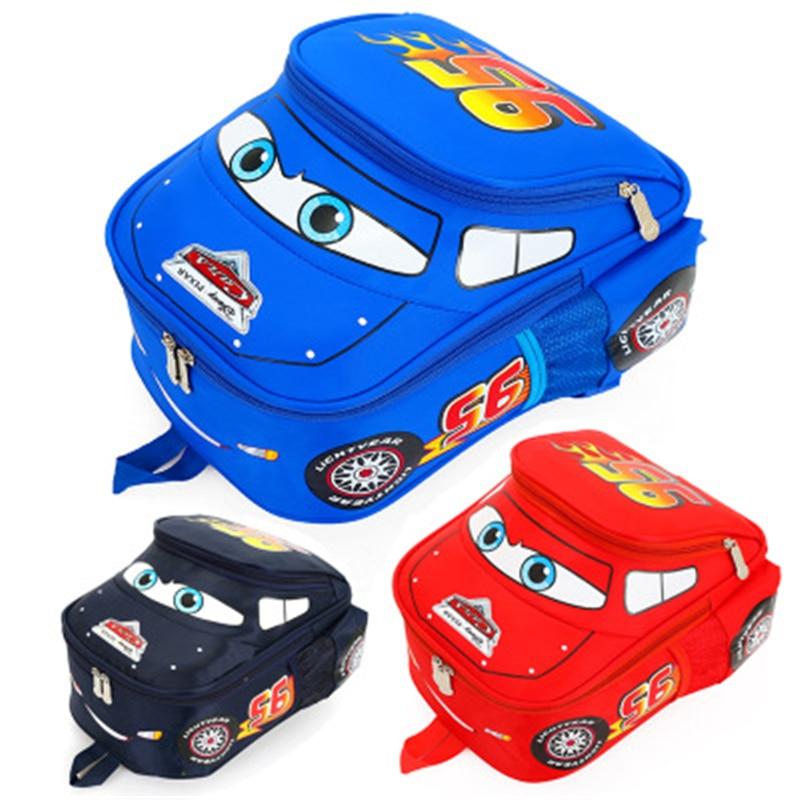 Cars  2-8 Years Old School Bags Boys New Semester Waterproof Car Backpacks Child Book bag Kids Shoulder Bag Satchel Knapsack