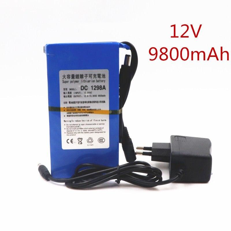 Batería de ion de litio superpoderoso, 12V CC, 9800 MAH de Alta...