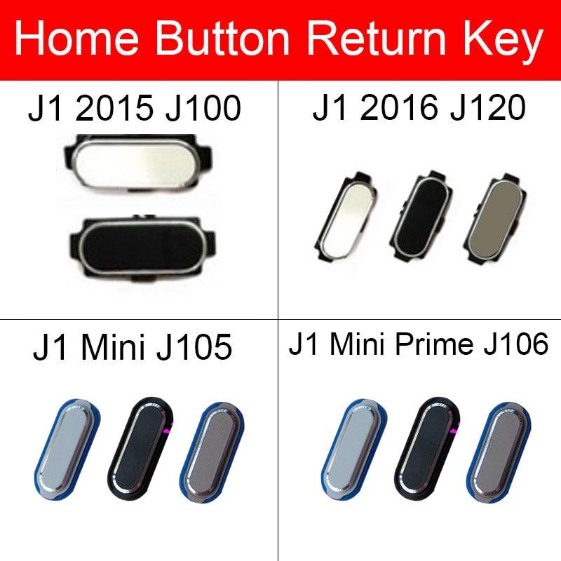 Botón del hogar Flex Cable cinta para Samsung Galaxy J1 Mini primer 2015 de 2016 J100 J120 J105 J106 inicio volver Botón de cinta de la flexión