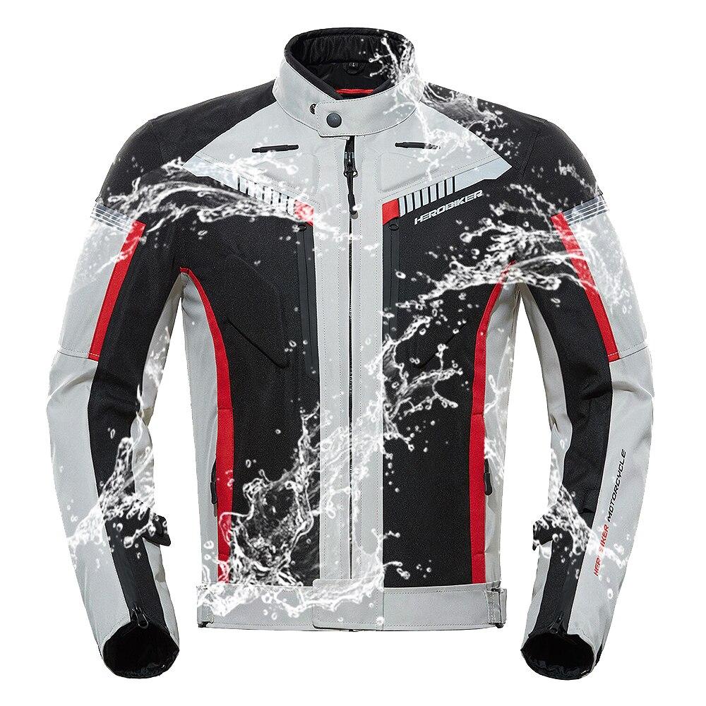 HEROBIKER Motorcycle Jacket Protective Gear Men Chaqueta Moto Hombre Motorbike Riding Jacket Waterproof Windproof Moto Clothing