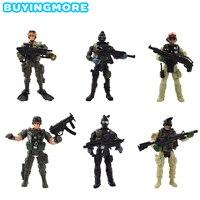 6 шт./партия американские солдаты пластмассовые игрушечные модели для детей крутая героическая модель подвижные суставы экшн-Фигурки игруш...