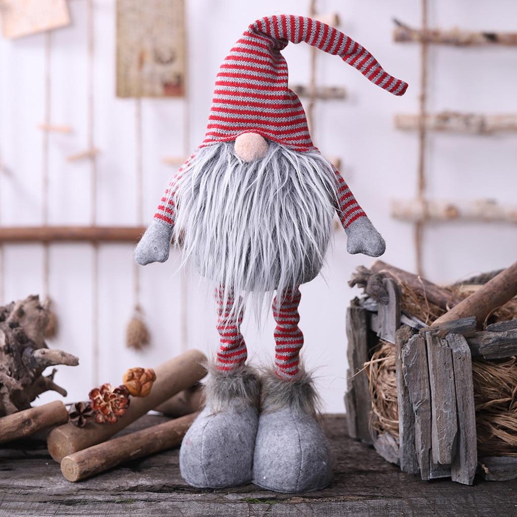クリスマスサンタクロース人形手作りスウェーデンぬいぐるみ Gnome スカンジナビア Tomte 北欧ニッセ Sockerbit ドワーフギフト # YJ