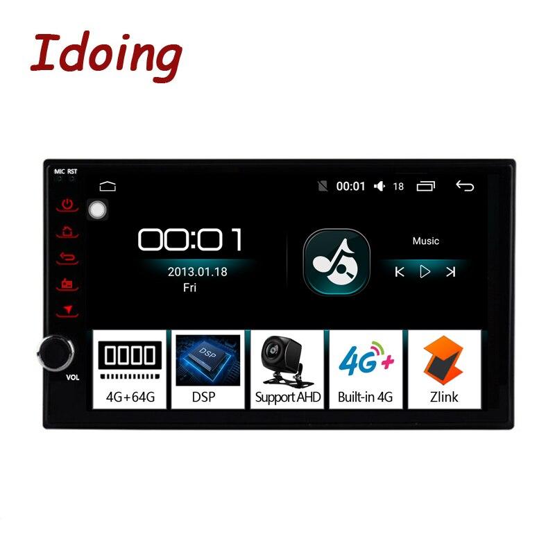 "Idoing 7 ""android 4g + 64g octa núcleo 2din vídeo para universal carro multimídia rádio player 1080p dsp gps + glonass 2 din sem dvd"