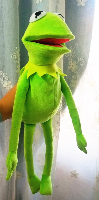 60cm, grande, Calle Sésamo, espectáculo de Muppet, marionetas Kermit, ventriloquismo, muñeco de peluche, muñeco de peluche, regalo de Navidad, cumpleaños