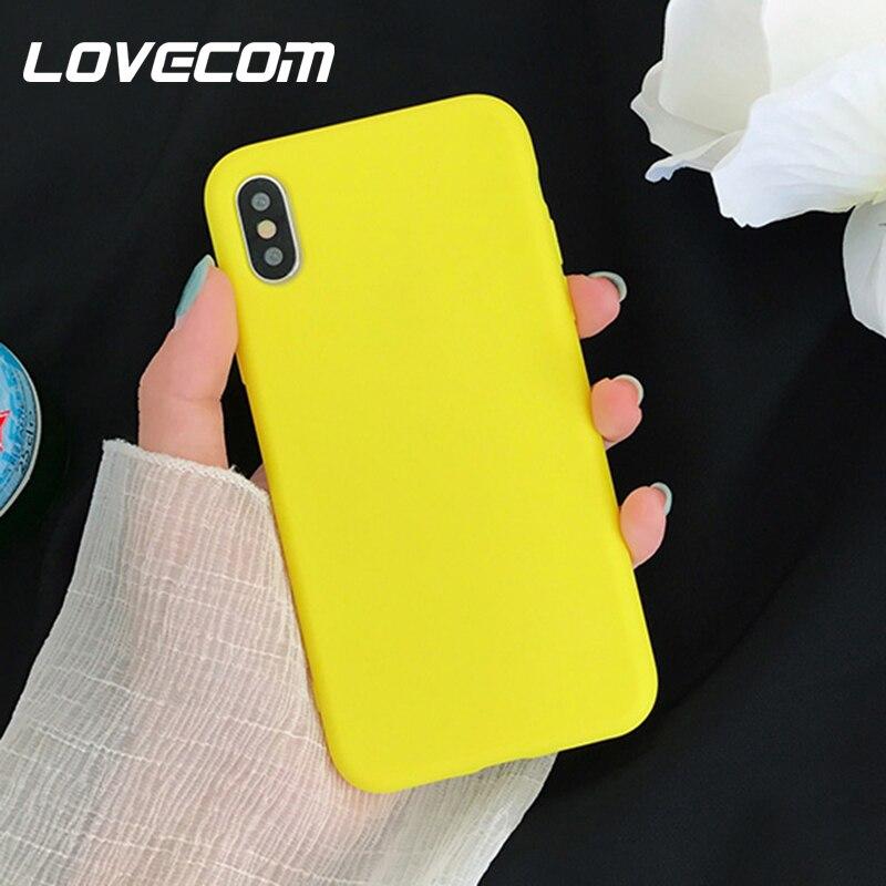 Lovecom bonito dos desenhos animados limão amarelo caso para iphone 11 pro max x xs max xr 6 s 7 8 plus simples doces cor macio telefone capa traseira