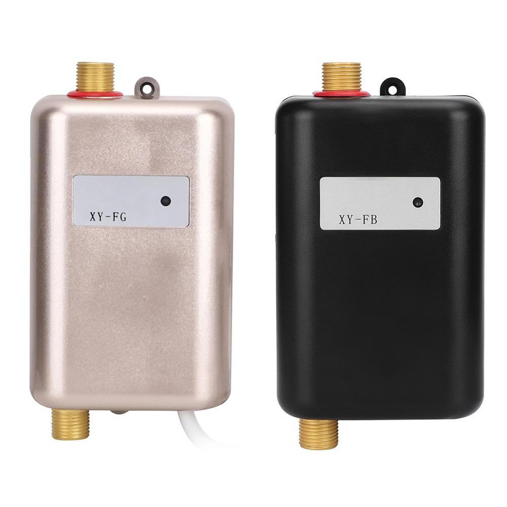 3800W Electric Water Heater Instantaneous Tankless Instant Hot Water Heater Kitchen Bathroom Shower Flow Water Boiler 110V/220V