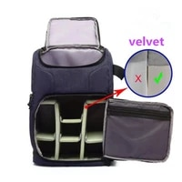 2021 new velvet camera bag multi fun outdoor backpack large capacity waterproof dslr photo video bags for photographer traveler