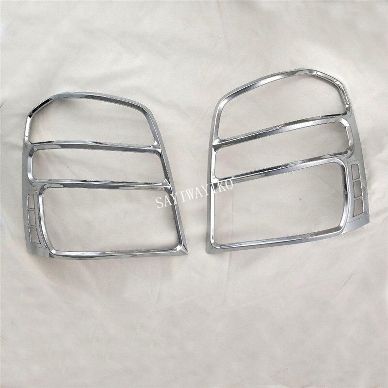Para Toyota Highlander Kluger 2003, 2004, 2005, 2006, 2007 ABS cromado trasera embellecedor de cubierta de lámpara de luz cubierta de luz trasera 2 uds