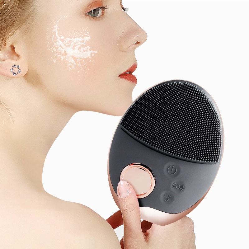 Electric Silicone Facial Brush Skin Care Face Brush Sonic Vibration Deep Pore Cleansing Washer Blackhead Facial Cleansing Brush недорого