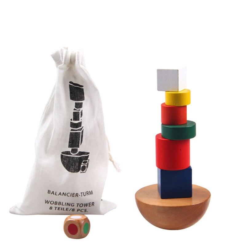 Деревянный Баланс игры детские развивающие игрушки для детей Монтессори Деревянные игрушки детей раннего образования кирпичные игрушки