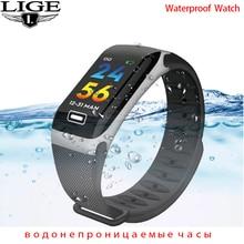 LIGE 2021 New Smart Watch Men Women Heart Rate Blood Pressure Pedometer Multi-function Waterproof Sm