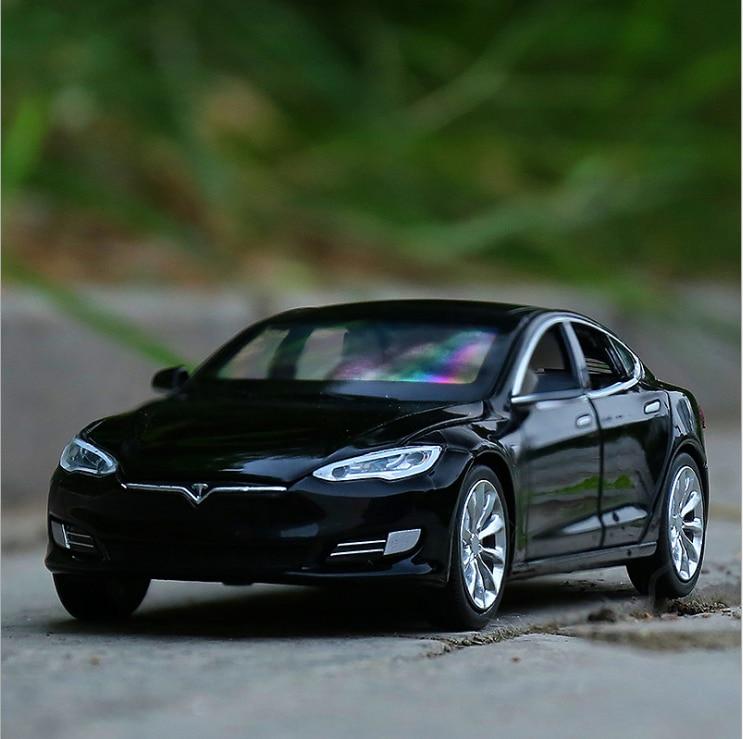 Модель автомобиля Tesla, модель S из сплава, игрушечные машинки и игрушечные машинки, детские игрушки, подарок для детей, игрушка для мальчиков,...