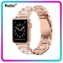 Per Apple Watch cinturino serie 5 4 3 2 1 40mm 44mm 38mm 42mm donna uomo cinturino in lega di zinco Iwatch cinturino di ricambio in metallo