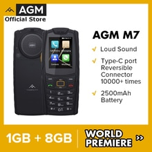 World Premiere AGM M7 4G Louder Sound Rugged Phone 1GB 8GB 2500mAh Mobile Phone Waterproof Type-C To