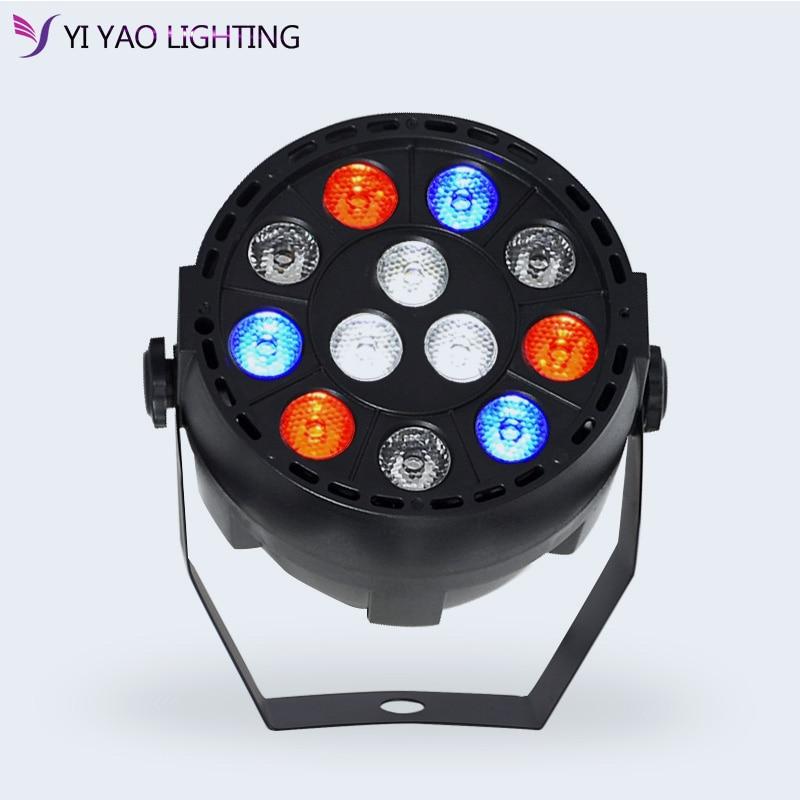 Par Lights with 12 LEDs RGBW BEAM  Light byDMX Control for Stage Lighting