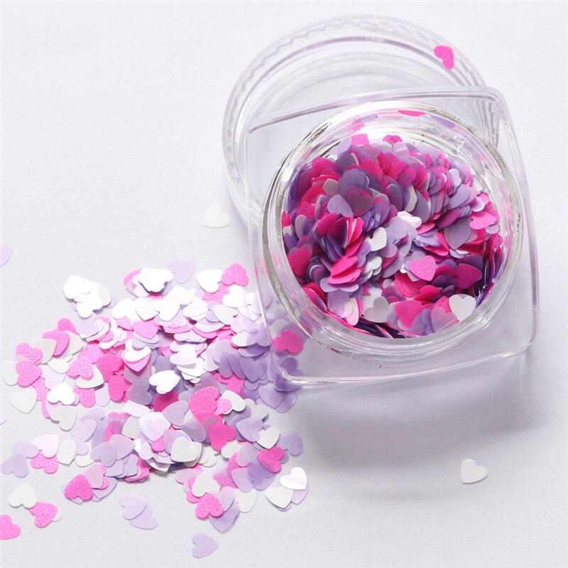 Lentejuelas Sinfonía para manicura de uñas, accesorios de joyería DIY para decoración artística de uñas, lentejuelas, estrellas, corazones, Sakura