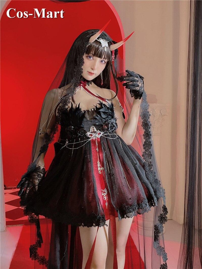 لعبة Azur Lane IJN Noshiro تأثيري حلي أسود رائع فستان الزفاف نشاط حفلة لعب الأدوار الملابس مخصص-جعل أي حجم