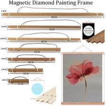 Merveilleux magnétique bois diamant mosaïque vente cadre diamant broderie cadre diamant peinture cadre noël cadeau décoration maison