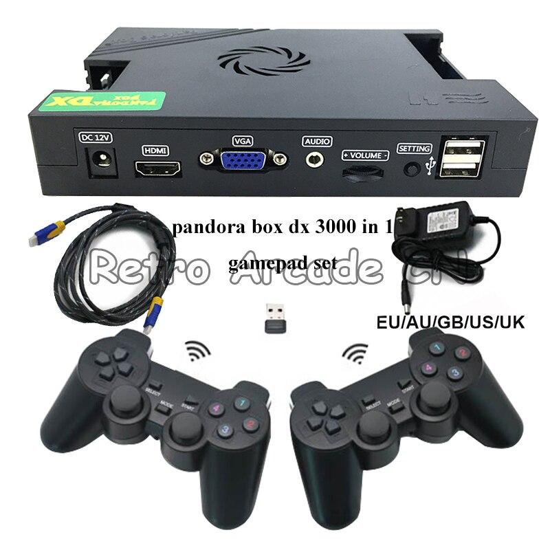 Проводной и беспроводной геймпад Joypad набор Pandora Box DX 3000 в 1 3/4 плеер 34 3D Игры Поддержка добавления игр VGA HDMI к телевизору/ПК/LCD и т. Д.