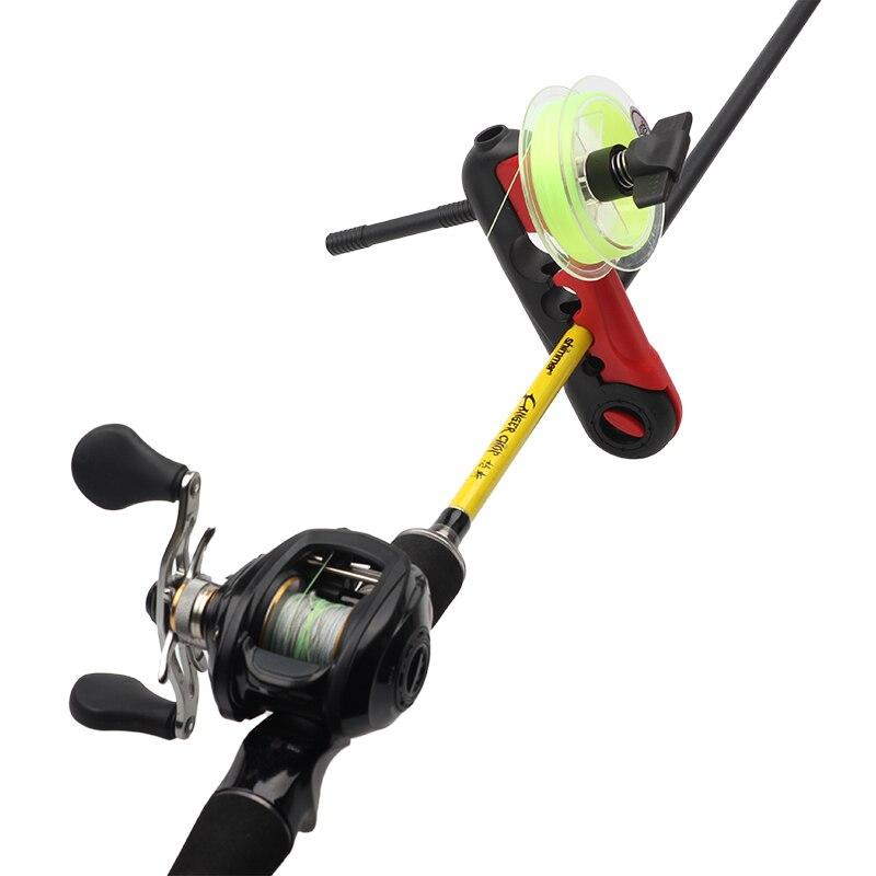 1pcs נייד וינדר Reel Spool ברקע מכונה ספינינג & Baitcasting Reel Spool עקיפת תחנת מערכת דיג