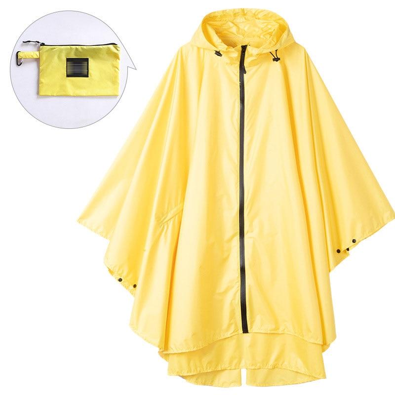 Black trench Coat fashion Style Hooded Women men unisex Raincoat Outdoor Rain Poncho Waterproof Rain Coat  Colors Rainwear 2020