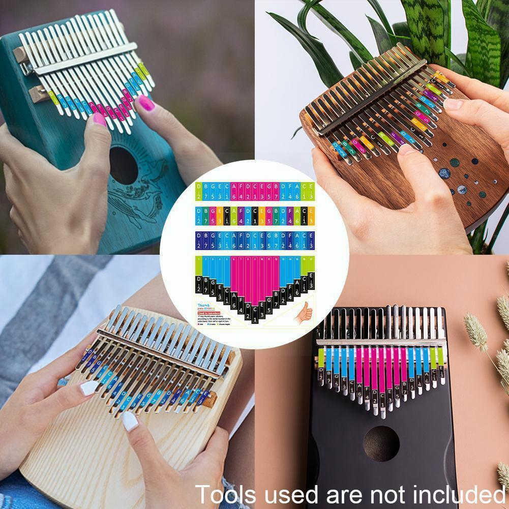 Kalimba Scale Sticker Thumb Finger Piano Note Stickers Percussion Musical Instrument Accessories For Beginner Learner I7y0