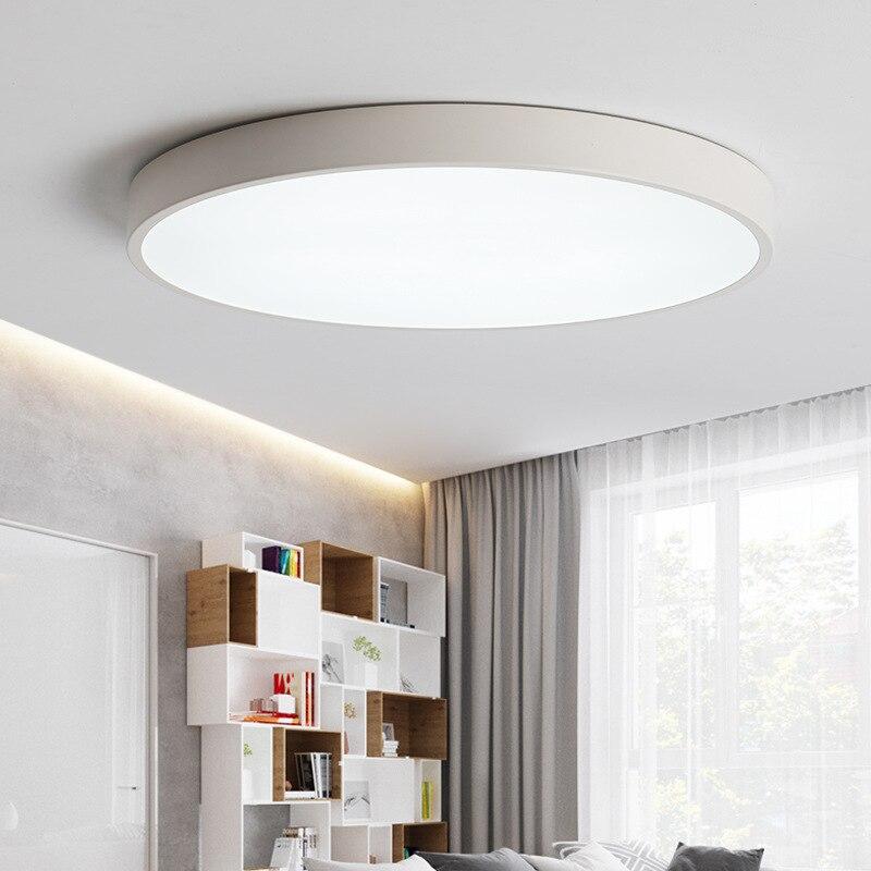 Luces LED de techo Luminaria, lámpara de techo Circular sencilla, accesorios de...