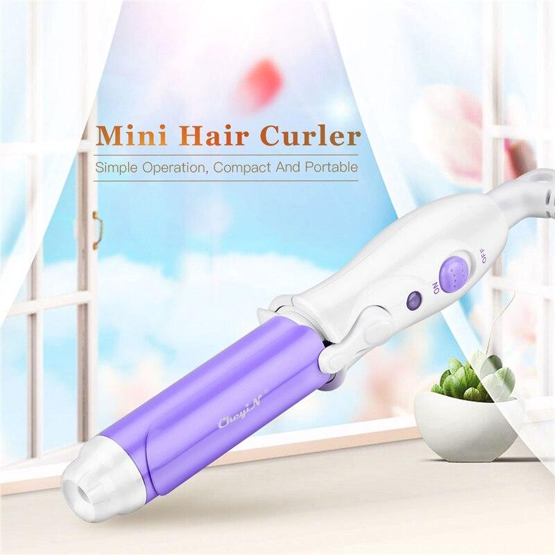 mini ferro de ondulacao eletrico portatil de ceramica pincas de cabelo cachos profissionais