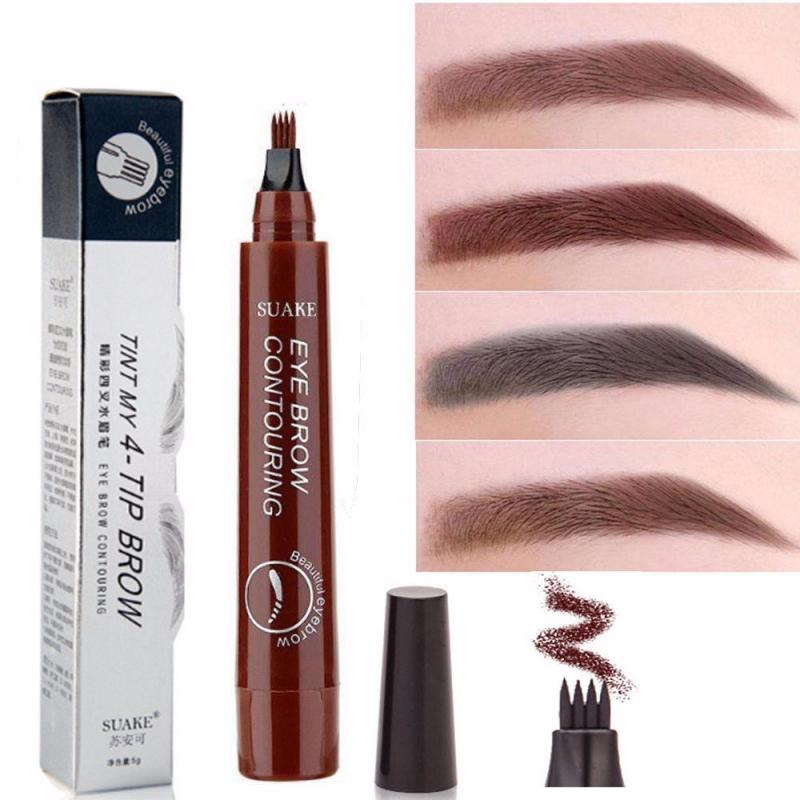 1 Uds. Lápiz de maquillaje líquido para cejas para mujer, lápiz impermeable para cejas, tatuaje para cejas, tinte para cejas, lápiz delineador, ceja de larga duración TSLM1