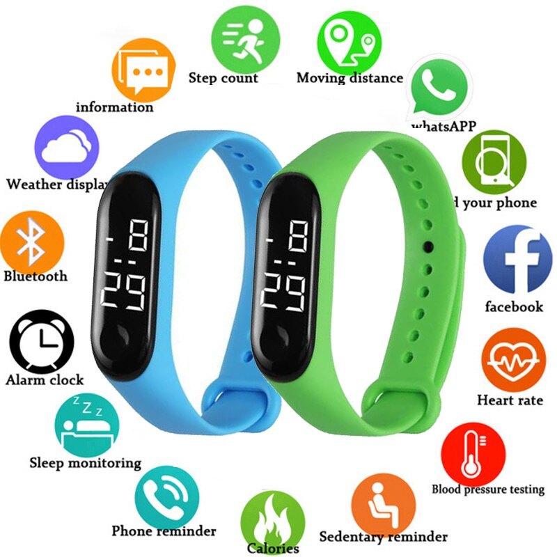 Men Women Sport LED Digital Watch Silicone Electronic Couple Watches Clock Relogio Montre Home