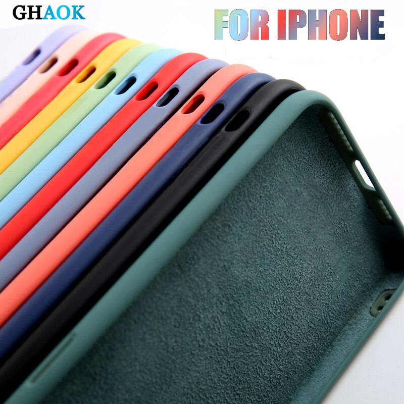 Original Liquid Silicone Case For Samsung Galaxy S8 S9 S10 S20 S21 Plus Note 20 Ultra 10 9 8 A51 A50
