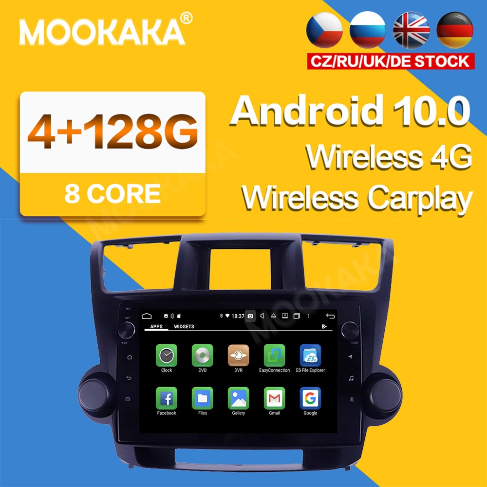 10.2'' Android 10 System Car Stereo Radio GPS Navigation For Toyota Highlander 2009 2010 2011-2013 R
