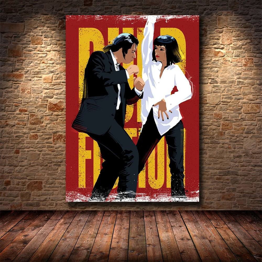 pulp-fiction-quentin-tarantino-posters-and-prints-canvas-painting-wall-art-picture-vintage-movie-decorative-home-decor-affiche