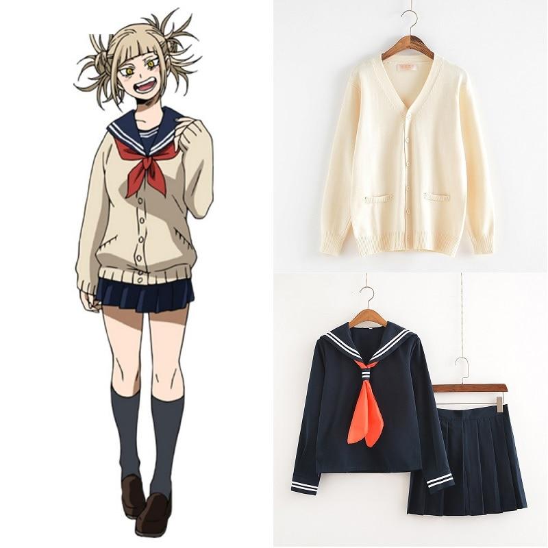Новинка, костюм для косплея My Hero Academy, аниме, косплей, Boku no Hero Academy, химико Тога, JK, униформа для женщин, матросские Костюмы со свитерами